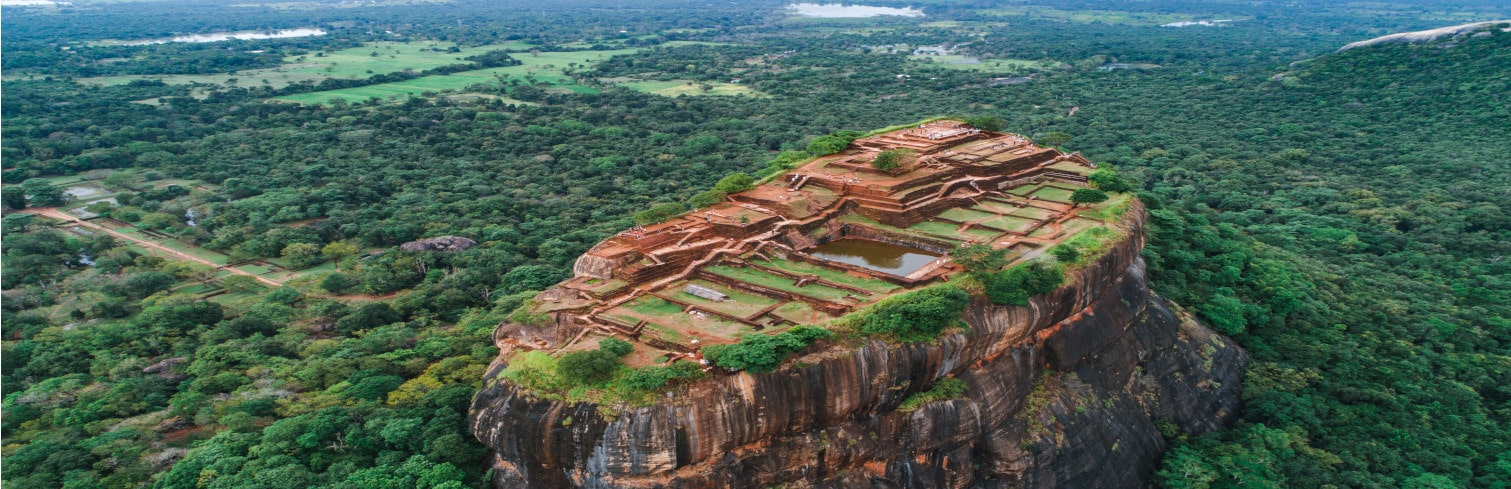 Sigiriya rock from top-min